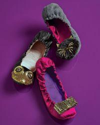 kate spade new york Gray Flannel Scrunch Cat Slipper