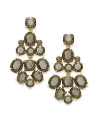 kate spade new york - Metallic Kate Spade New York Earrings Goldtone Glitter Stone Chandelier Earrings - Lyst