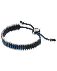 Links of London Blue Sterling Silver Adjustable Friendship Bracelet