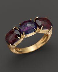 Marco Bicego - Purple Murano Amethyst And Garnet Ring - Lyst