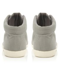 Dune Gray Sampson Canvas Cupsole Lace Hitop Shoes for men