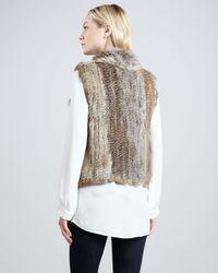 Joie White Andoni Fur Vest