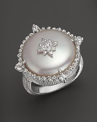 Judith Ripka | Metallic Laguna Cultured Coin Pearl Ring with White Sapphires | Lyst