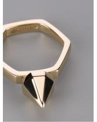 Saint Laurent - Metallic Pyramid Stud Ting - Lyst