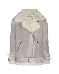 Acne Studios Gray Velocite Shearling Jacket