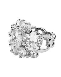 Dyrberg/Kern Metallic Tairie Shiny Silver Crystal Ring