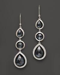 Ippolita | Multicolor Stella Drop Earrings In Hematite Doublet With Diamonds In Sterling Silver | Lyst