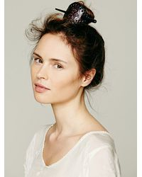 Free People - Brown Leather Bun Holder - Lyst