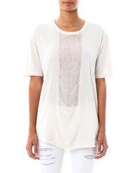 Raquel Allegra White Deconstructed Cotton Tshirt