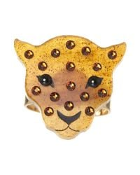 Tatty Devine | Black Leopard Ring | Lyst