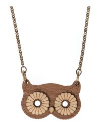 Tatty Devine | Brown Owl Necklace | Lyst