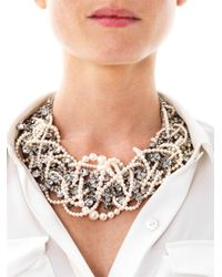 Tom Binns - White Grande Dame Pearl Crystal Necklace - Lyst