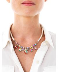 Tom Binns - Multicolor Quiet Riot Pearl Crystal Necklace - Lyst