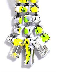 Tom Binns - Green Co Vert Marble Effect Earrings - Lyst