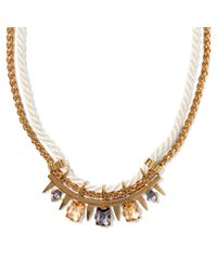 Vince Camuto - Metallic Rope Stone Necklace - Lyst