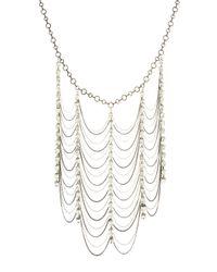 Adia Kibur Metallic Rhinestone Mixed Chain Necklace