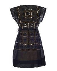 Almost Famous Black Cut Out Cotton Dress