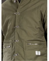 Bedwin And The Heartbreakers Green Hook Fastening Jacket for men