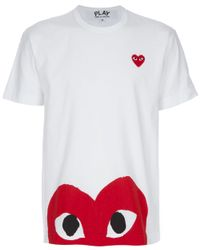 Comme des Garçons | White Printed T-shirt for Men | Lyst
