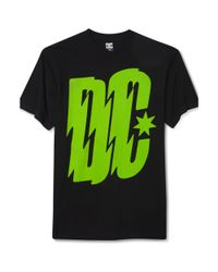 DC Shoes Black Electronica Graphic T Shirt for men