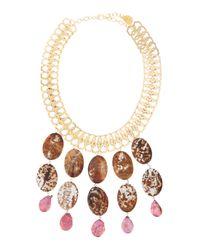 Devon Leigh - Metallic Jasper Pearl Statement Necklace - Lyst