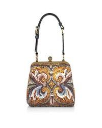 Dolce & Gabbana Metallic Agata Mosaic print Medium Bag