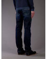 Fendi - Blue Straight Leg Jean for Men - Lyst