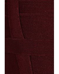 Hervé Léger Red Bandage Dress