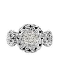 John Hardy | Metallic Diamond Circle Center Ring | Lyst
