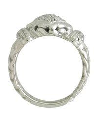 John Hardy - Metallic Pave Diamond Square Ring - Lyst