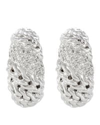 John Hardy - Metallic Swirl Hoop Earrings - Lyst