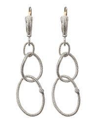 Judith Ripka | Metallic Jubilee Earrings Small | Lyst