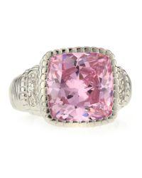 Judith Ripka | Metallic Pink Crystal Ring Size 7 | Lyst