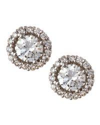 KC Designs - Metallic Diamond Halo Stud Earrings - Lyst