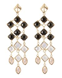 Kendra Scott - Natural Mixed-Stone Linear Earrings - Lyst