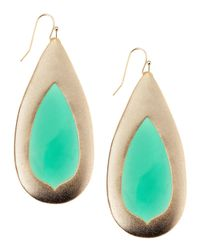 Kendra Scott | Wren Green Onyx Teardrop Earrings | Lyst