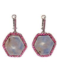 Kimberly Mcdonald - Blue Sapphire Slice and Ruby Earrings - Lyst