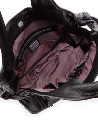 Kooba Black Hudson Convertible Shoulder Bag