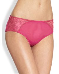 La Perla - Red Flora Briefs - Lyst