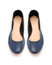 Loeffler Randall Blue Karlotta Ballet Flat