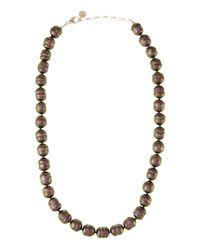 Majorica - White Baroque Pearl Necklace - Lyst