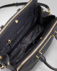 Marc By Marc Jacobs Goodbye Columbus Leather Tote Bag Black
