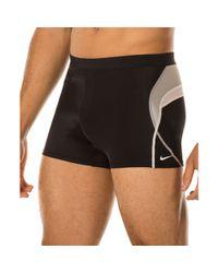Nike Black Metro Splice 3 Swim Shorts for men