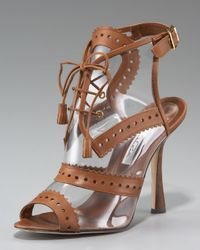 Oscar de la Renta | Brown Oxford Illusion Sandal | Lyst
