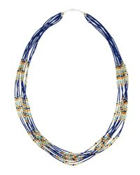 Panacea | Royal Blue Multistrand Necklace | Lyst
