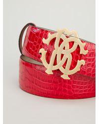 Roberto Cavalli Red Logo Belt