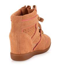 Schutz - Brown Saint Bridget Wedge Sneaker - Lyst