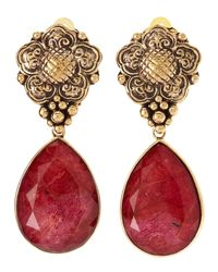 Stephen Dweck - Red Coral Dangle Clip On Earrings - Lyst