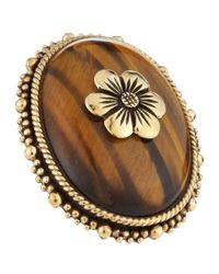 Stephen Dweck | Metallic Tigers Eye Flower Ring | Lyst