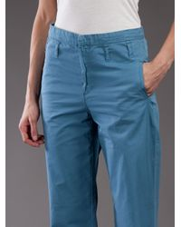 Surface To Air - Blue High Waisted Chino Trouser - Lyst